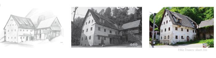 The Trnovec house through time.